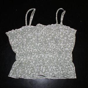 Ally Fashion Green Floral Print Cami